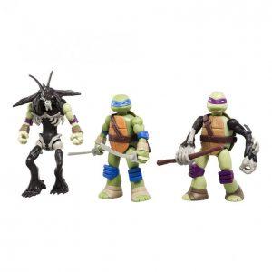 Turtles Mutations Leonardo Slash Ja Donatello Hahmo 12 Cm 3 Kpl