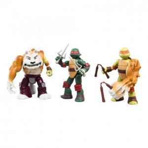 Turtles Mutations Raphael Michelangelo Ja Tiikerikynsi Hahmo 12 Cm 3 Kpl