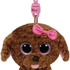 Ty Maddie Brown Dog Clip Pehmoeläin