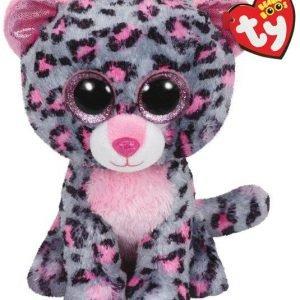 Ty Tasha Pink / Grey Leopard Medium Pehmoeläin