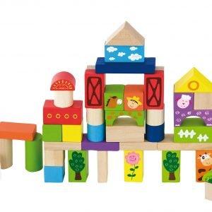 Viga Toys Maatila 50 Kpl Rakennuspalikat