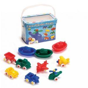 Viking Toys Miniajoneuvot 10 Kpl Ja Ämpäri